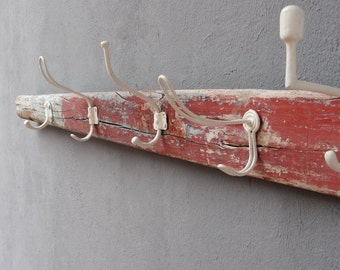 Rame Coat Rack, rame Vintage, organisateur Rack, porte-serviette, Boatwood, bois flotté, nautique Plage Home Decor