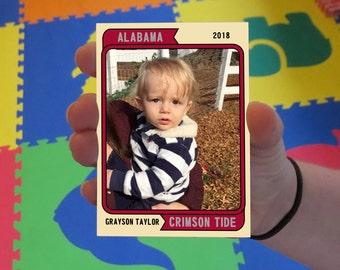 Custom Crimson Tide Baby Cards