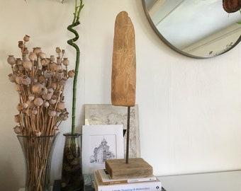 Handmade Driftwood Sculpture / Found Object Rustic Minimalist Sculpture / Original Artwork
