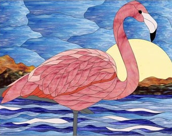 Flamingo Stained Glass PATTERN