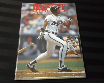 Beckett Baseball Card Monthly - Issue #78 (Sept 1991) - vintage 90s back issue Magazine & Price Guide ~ Dave Justice cover