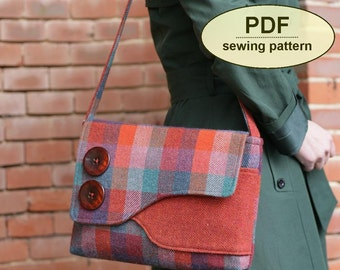 New: Sewing pattern to make the Brancaster Messenger Bag - PDF pattern INSTANT DOWNLOAD