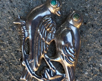 Mexican Silver Bird Pin