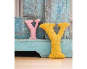 Knitted Letter Y Knitting Pattern (803508)