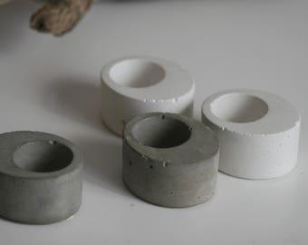 Oval Concrete Candleholder | Candleholder | Display | Urban | Industrial