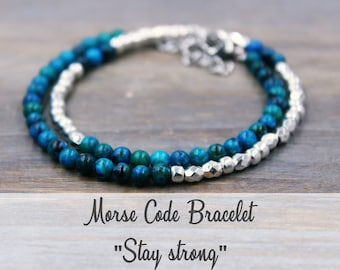 Stay Strong Bracelet, Stay Strong Jewelry, Stay Strong Gift for women personalized, Be Strong Bracelet, Be Strong Jewelry, Strength Gift