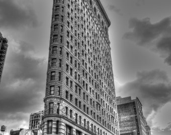 Flatiron building print, NYC wall art, NYC photography, fine art photography, nyc photos, urban decor, housewarming gift, nyc decor