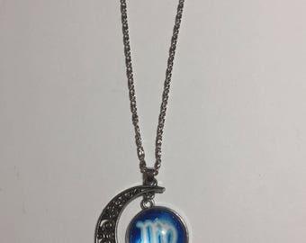 """Virgo The Virgin icon Moon Outer Universe Pendant 18"""" Necklaces"""