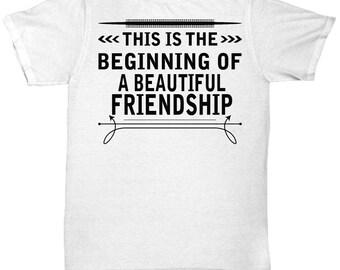 Casablanca T Shirt - A Beautiful Friendship - Cool Graphic Design Tee Shirt
