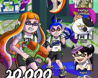 Splatoon - 20,000 Leauges Under the Ink Print