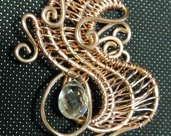 Rose Gold Wave Pendant