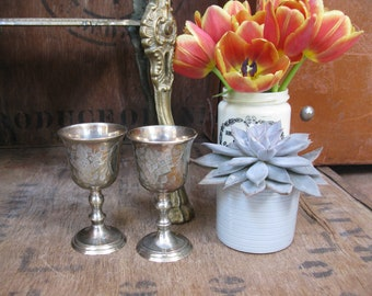 Silver Goblets, Two Goblets, Game Of Thrones, Vintage Goblets, Pair Of Goblets, Wine Goblets, Engraved Goblets, Vintage Silverware, Gift