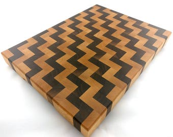 Walnut & Maple End Grain Cutting Board – Butcher Block – Chopping Board – Hardwood Cutting Board – Handmade – Chef – Chopping Block