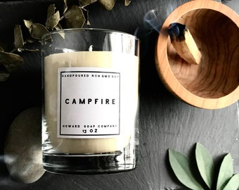 CAMPFIRE >> handpoured soy candle/phthalate free/minnesotamade