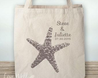 Starfish - Starfish Tote - Beach Wedding - Starfish Wedding - Personalized Wedding Gift - Custom Wedding Gift - Wedding Favor - Custom Gift