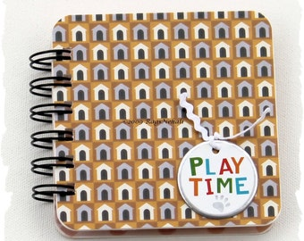 PLAY TIME - Dog - Post It Note Holder Planner for Dog \/ Pet \/ Animal Lover