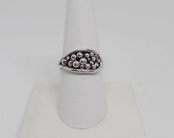 Sterling Silver Bead Ring, Bead Drops Ring, Silver Beads, One Of A Kind Silver Ring, Under 75, Sterling Silver Ring, 1638