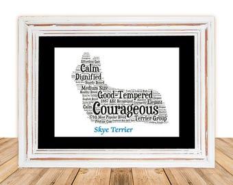 Skye Terrier,Skye Terrier Art,Skye Terrier Artwork,Skye Terrier Print,Custom, Personalize, Pet Gift, Dog Art, Pet Memorial, Custom Dog