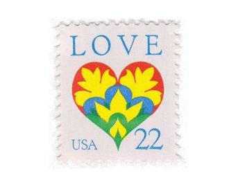 1987 22c Love Single - 10 Unused Vintage Postage Stamps - No. 2248 - Vintage Postage Shop