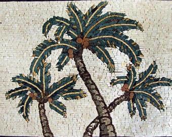 Palmtrees Mosaic Pattern