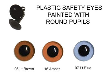 1 Pair 10mm Plastic Safety Eyes Article LE10 Available in 3 Colours Round Pupils Metal Washers Teddy Bear Plush Toy Stuffed Animal Plushie