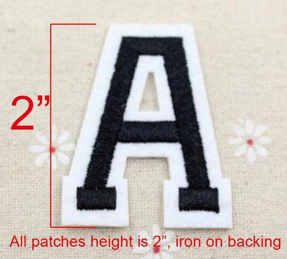 Varsity letters sewn with a zigzag stitch border 4