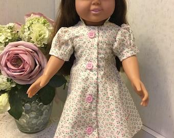 Tiny pink print day dress
