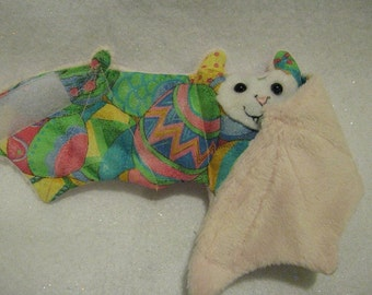 Pink - Turkish or Ukranian Easter Egg Bat - Cup Sleeve, Stuffed Animal, Coffee Cozy