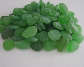 100 Bulk Sea Glass, Small Seaglass, Beach Glass Green
