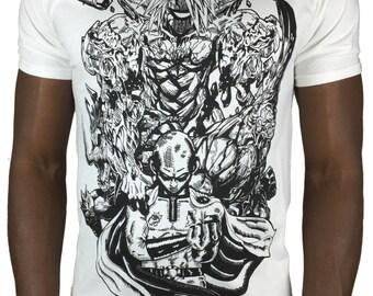 One Punch Man T-shirt anime Tee manga Saitama tshirt OPPAI