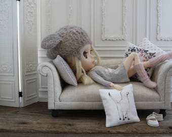 Four Throw Pillows For Dolls ~ 1:6 scale ~