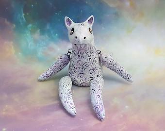 Ceramic Wolf Art Doll