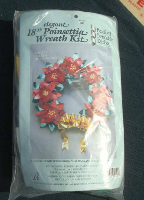 Wreath Kit DIY Christmas Wired Ribbon Christmas Wreath