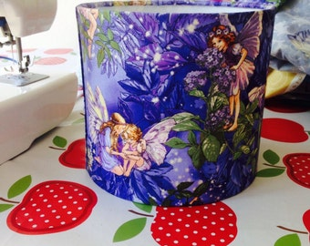 Flower Fairies handmade lampshade, various sizes and linings