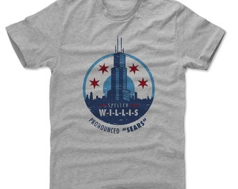Chicago Shirt | Destinations & Illinois | Men's Cotton T-Shirt | Willis Tower Pronounced Sears
