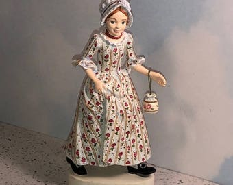 HALLMARK AMERICAN GIRL Felicity 1774 figurine statue sculpture limited edition retired pleasant company rose flower dress with purse bonnet
