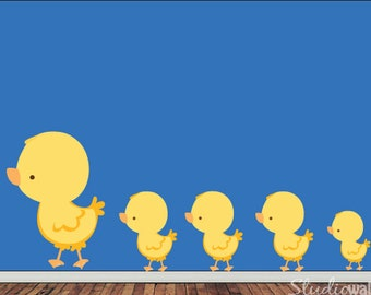 Ducks Decal, Nursery Decal, Baby Decal, Kids Decal