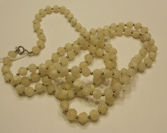 vintage 52 inch bead necklace, from 1930s (B9)