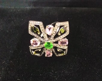 Diamond Tourmaline Ring