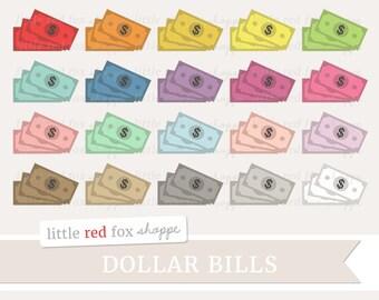 Dollar Bills Clipart, Money Clip Art, Dollar Clipart, Cash Clipart, Money Stack Clipart, Cute Digital Graphic Design Small Commercial Use