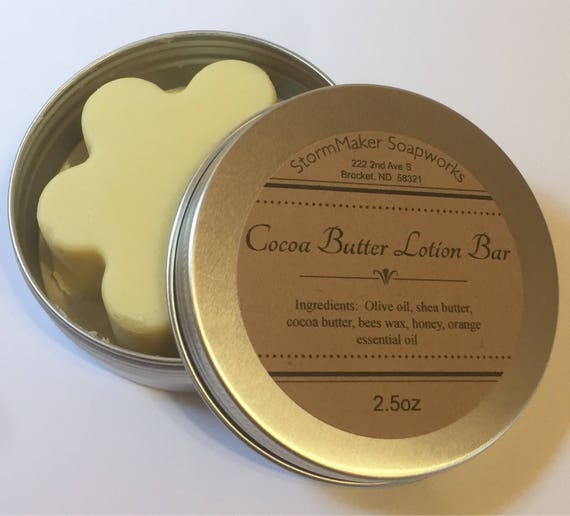 Cocoa Butter Solid Lotion Bar