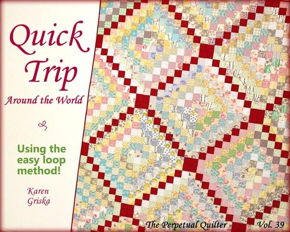 Quilt Pattern Trip Around The World Quilt Easy Quilt