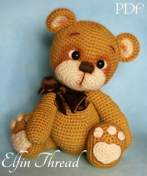 Elfin Thread Teddy Bear Amigurumi PDF Pattern Teddy Bear