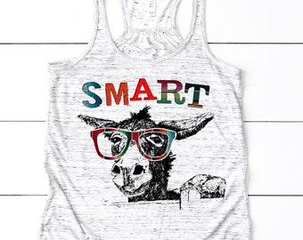 Smart Ass Tank top. Smart Donkey. Donkey Tank. Smart shirt