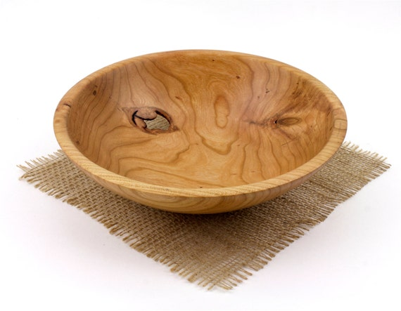 Wooden Cherry Bowl, Fruit Bowl, Candy Dish