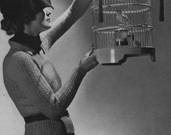 PDF of Minervas Tamerna Two Piece Suit Knitting Pattern, c. 1935