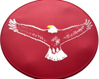 Bold Red Soaring Eagle Kitchen Placemat, Table Trivet, Table Placemat, Kitchen Decor