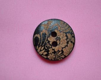 button round 23mm fancy