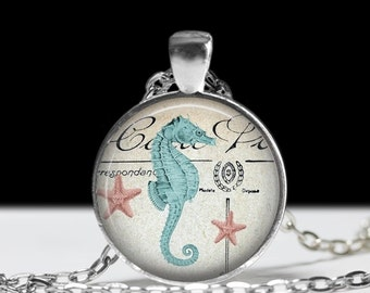 Seahorse Necklace Seahorse Jewelry Necklace Wearable Art Pendant Charm Seahorse Pendant Charm Seahorse  Keychain
