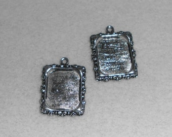 Silver Picture Frame Charms